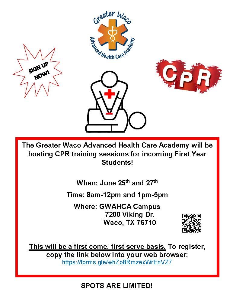 Summer CPR Training for New GWAHCA Students