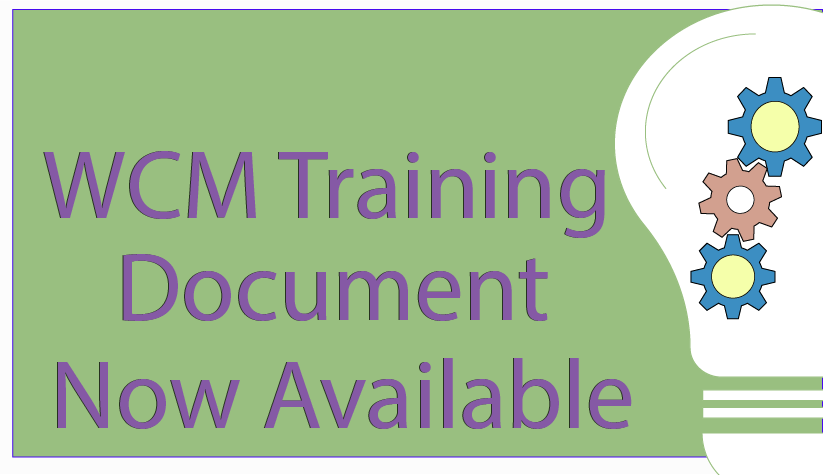 Download WCM Training Document