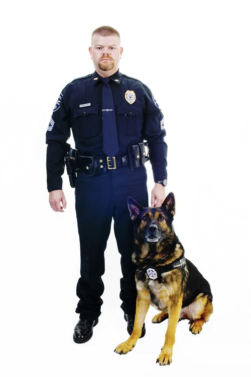 Sgt. Freeman and K9 Gero