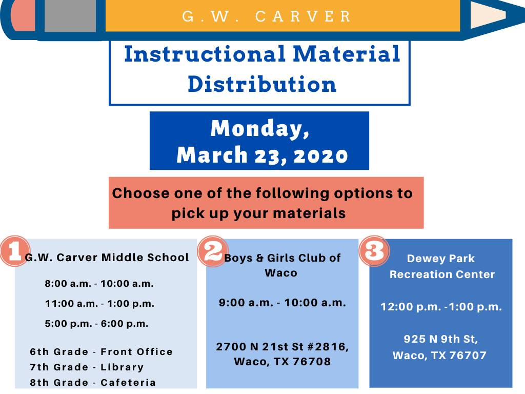 Instructional Material Distribution