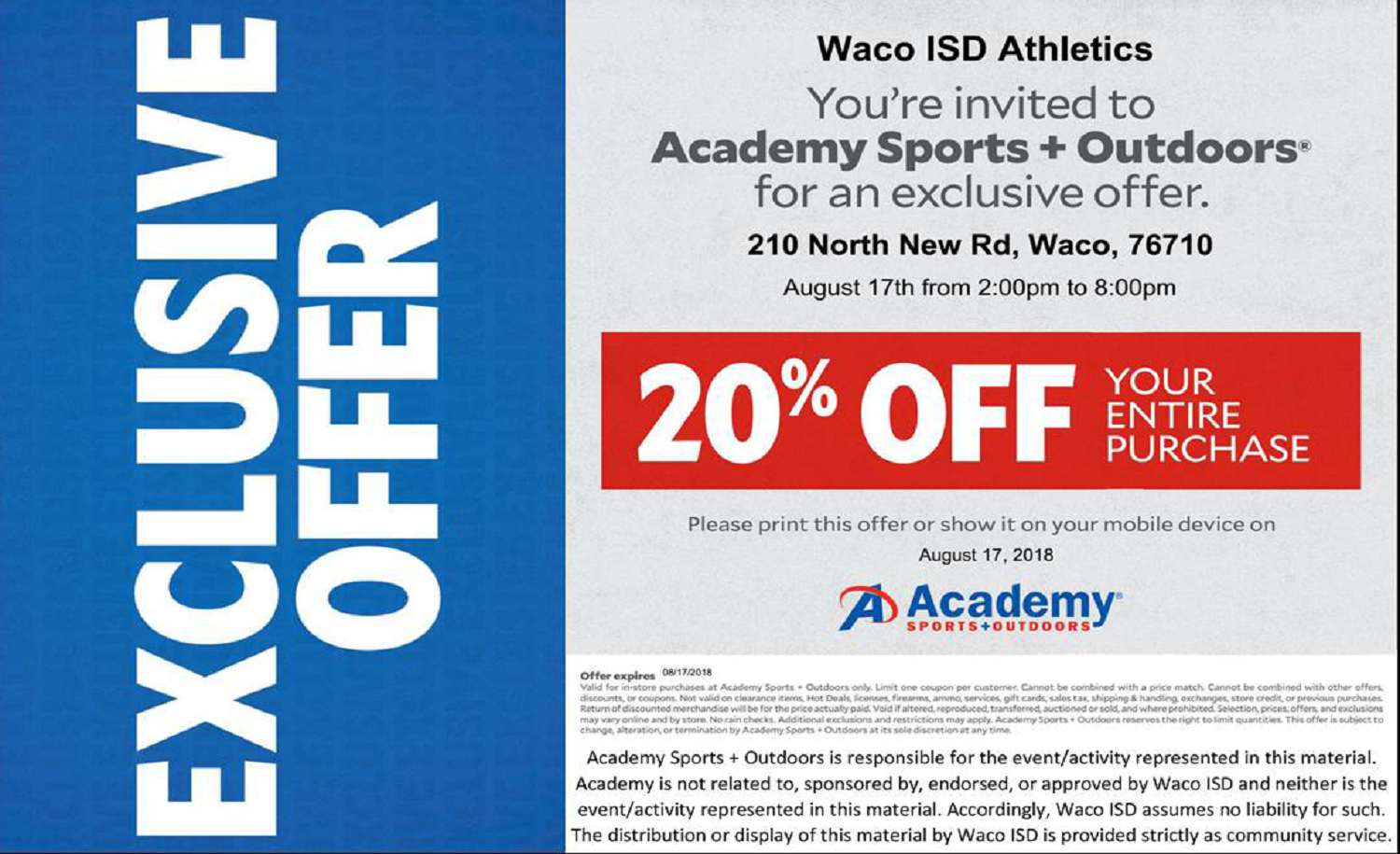 Academy Special Offer 20% off