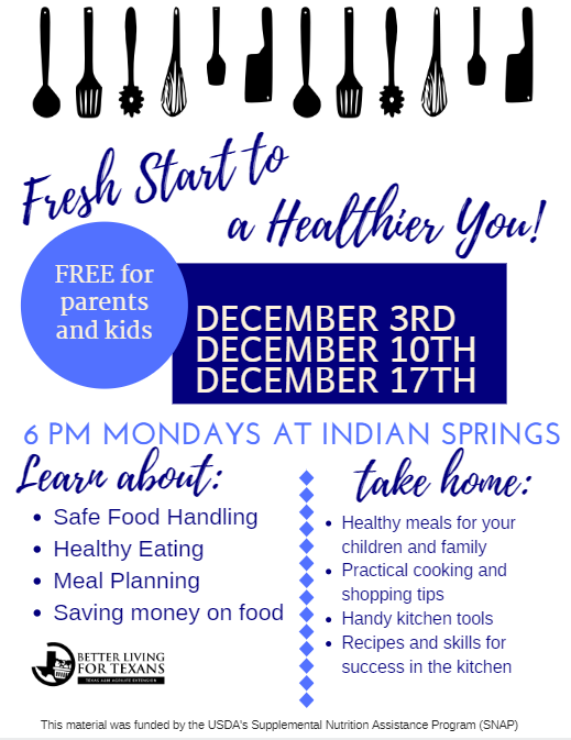 Do you and your student want to be in a free cooking class in December?