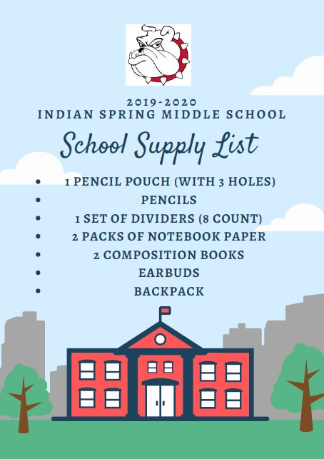 This year we are trying to keep our school supply list short and simple for families.