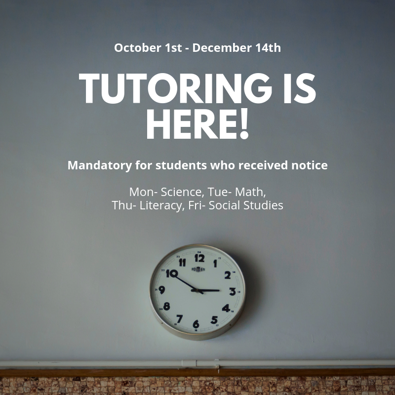Tutoring starting 10/1