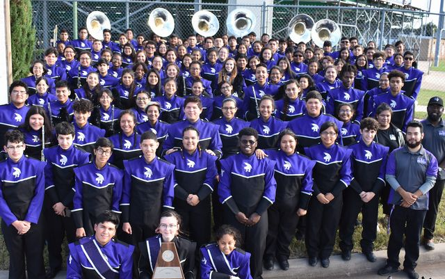 The 2018 University High Mighty Trojan Band