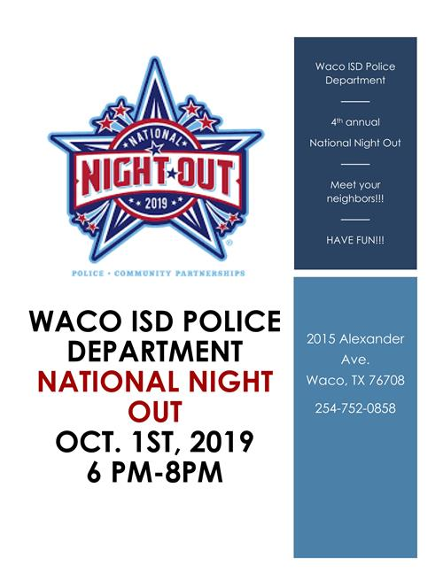 Waco ISD Police Department flier