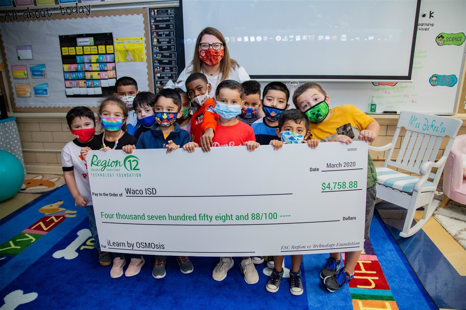 ESC Region 12 Technology Foundation awards grant to Kendrick Elementary teacher