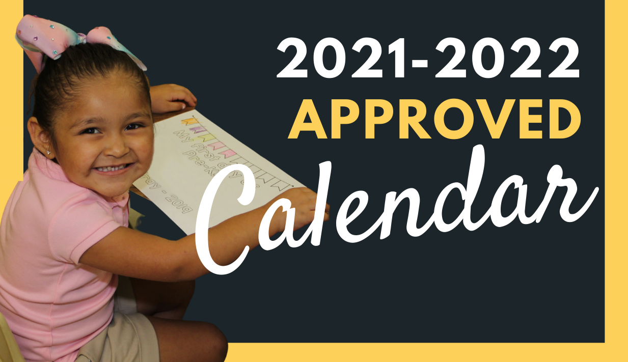 2021-2022 Approved Calendar