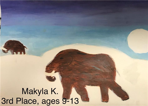 artwork depicting mammoth