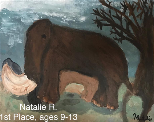 artwork depicting a mammoth