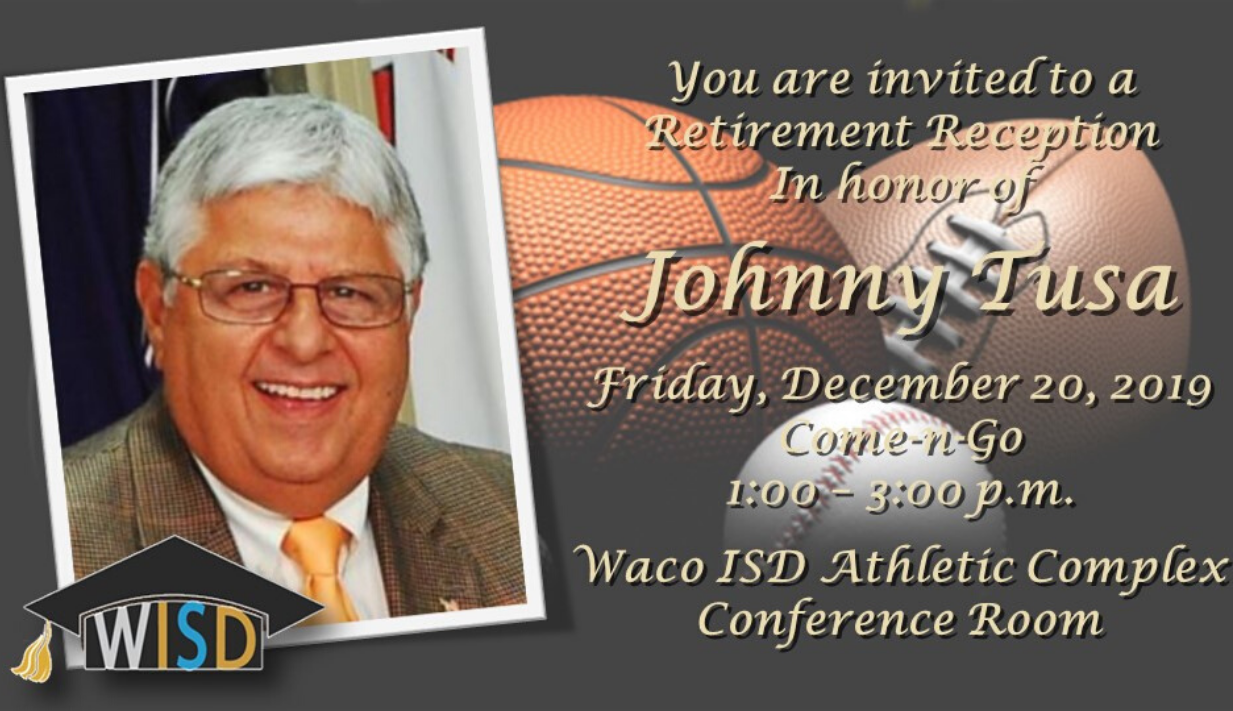 Retirement reception for Coach Tusa to be held Dec. 20