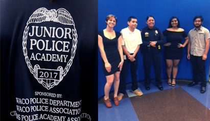 Last Thursday, six students from WHS completed the Waco PD Junior Police Academy. They spent two weeks getting a crash course