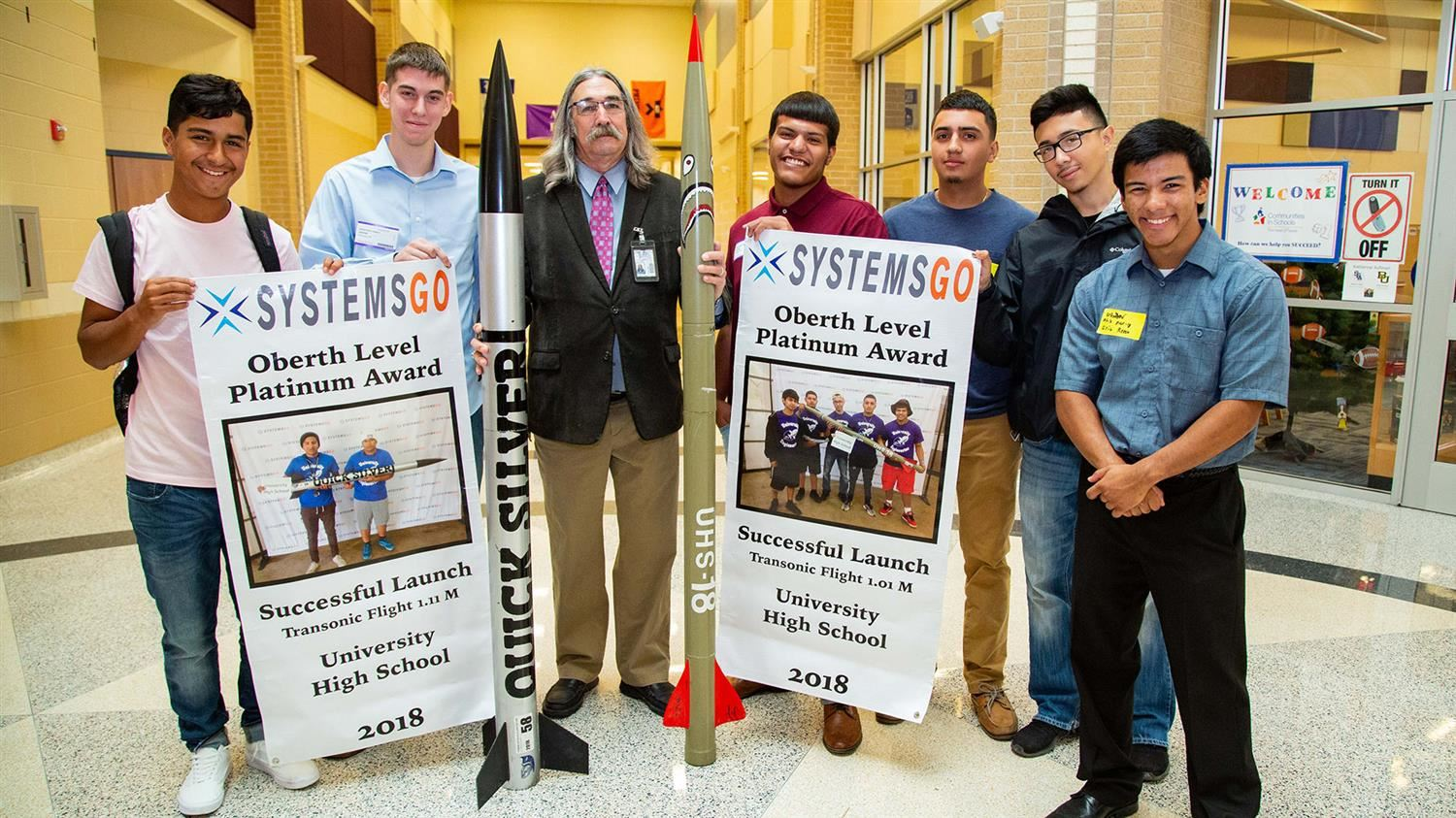 The University High rocketry team
