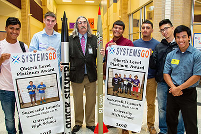 The University High rocketry team made history last spring with two of their transonic rockets.