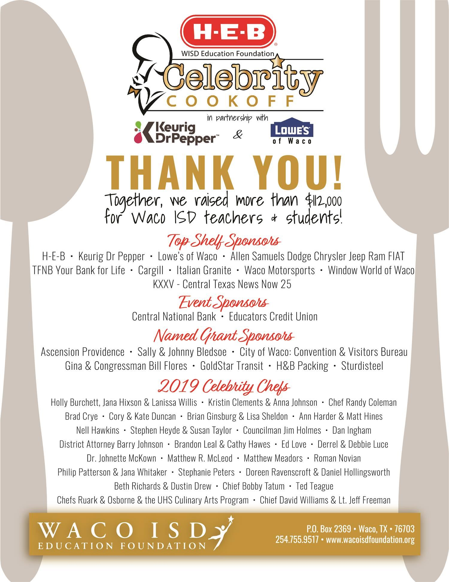 Heb Isd Calendar.H E B Celebrity Cookoff Cookoff Main