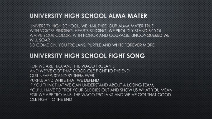 University High School Songs