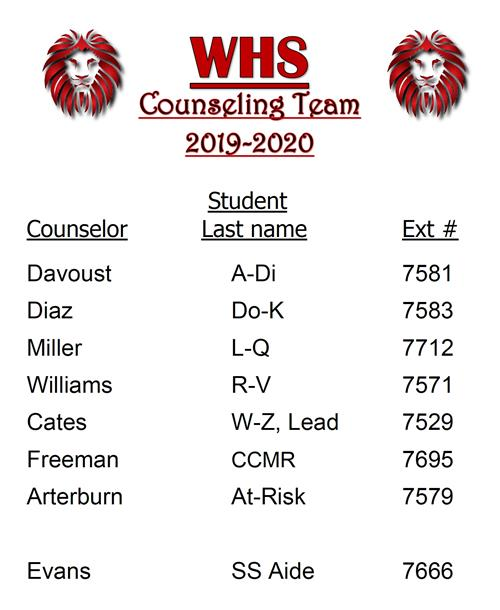 Counseling Team 2020