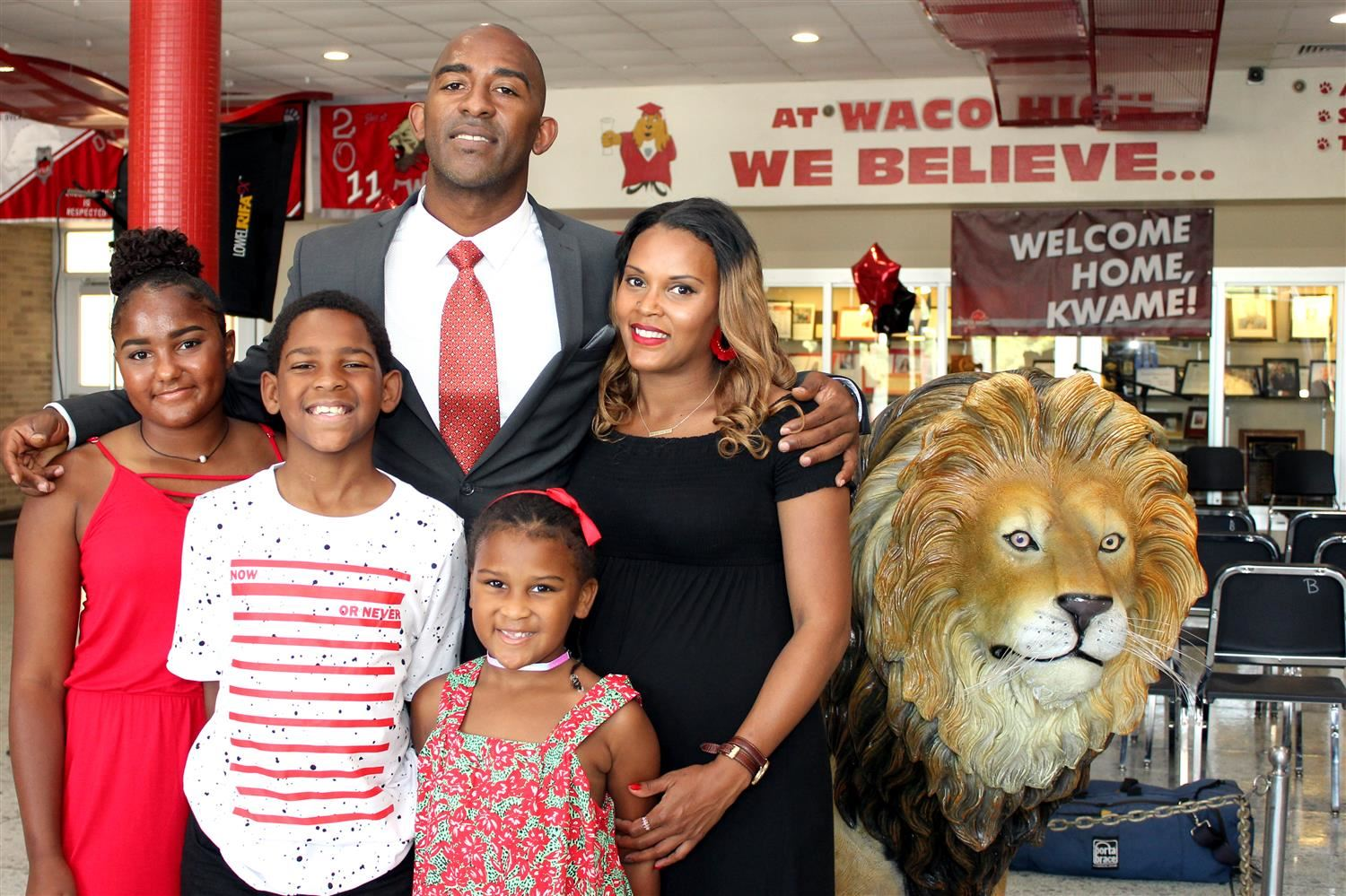 Kwame Cavil and family