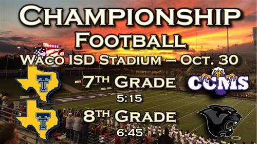 Middle School Championship Football