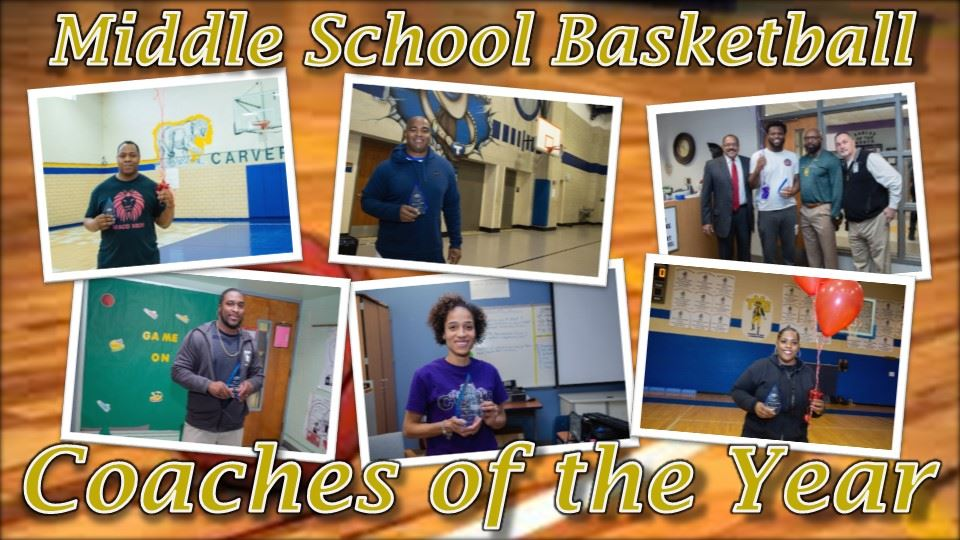 Middle School Basketball Coaches of the Year