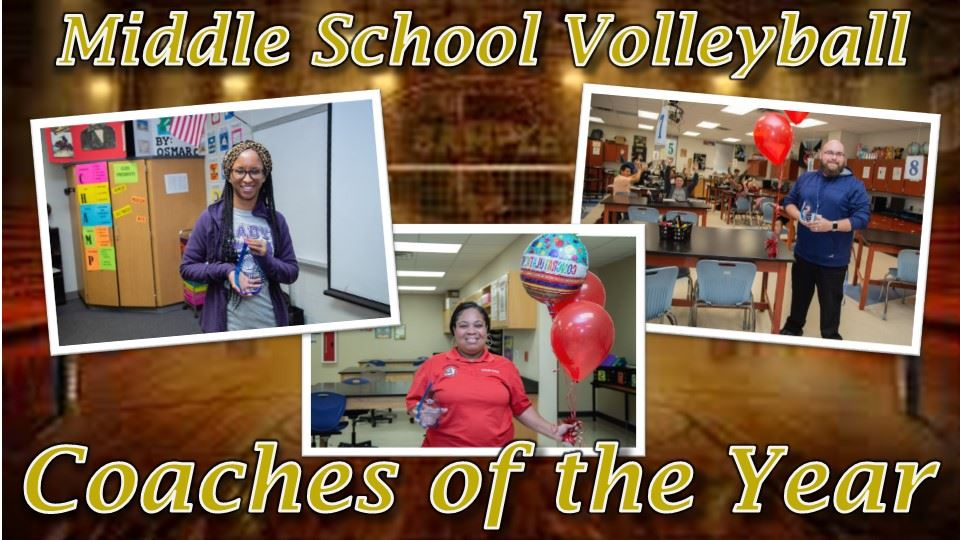 Middle School Volleyball Coaches of the Year