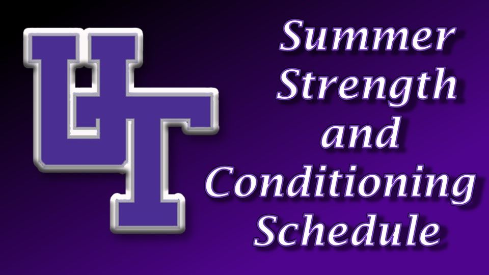 Strenght and Conditioning Schedule