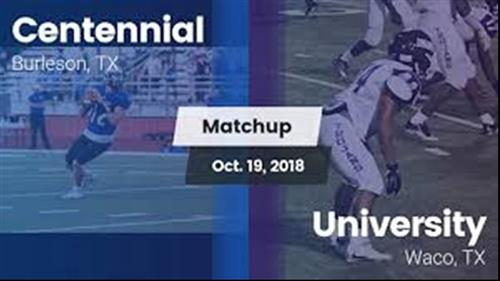 Week 8 - University fall to Centennial 42-0