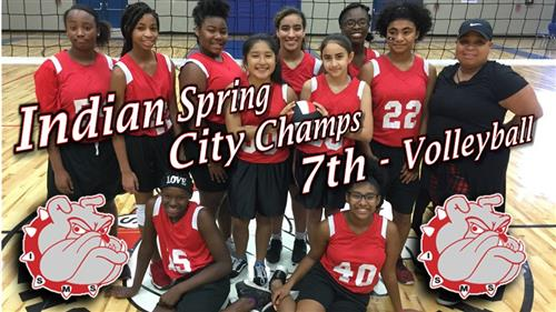 Indian Spring Bulldogs are your 7th grade Volleyball Champs!